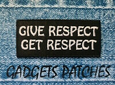 """""""give Respect, Get Respect"""" Australia Biker Patch Harley Davidson Iron On Sew On"""