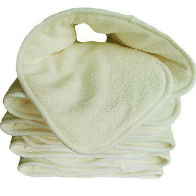 5Layer Reusable Baby Cloth Diaper Nappy Liner Insert Bamboo Charcoal Microfiber.