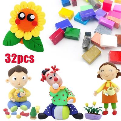 Mixed Color Set Oven Bake Fimo Polymer Soft Clay Modelling Moulding DIY Toy 350G
