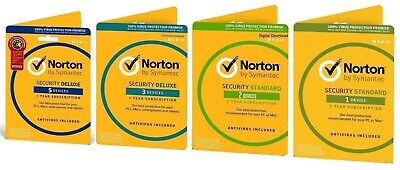 Norton Internet Security DELUXE PREMIUM 2018 1 - 5 Devices Windows Mac Android