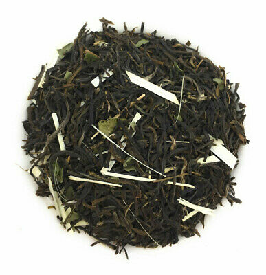 Green Tea Tulsi Lemongras Basil Flavor Loose Leaf Herbal Chai Fresh Pure