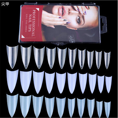 100PCS natural sharp False full cover Nail Tips Acrylic UV Gel Nails Art Tips