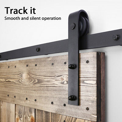 2m Sliding Barn Door Hardware Set Track Set Home Bedroom Interior Closet