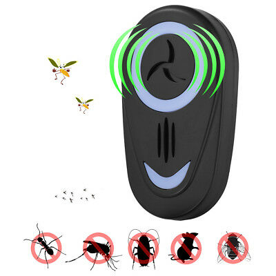 Pest Repeller Ultrasonic Electronic Mouse AntiRat Mosquito Insect Rodent Control