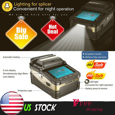 50000 Signal Fire Ai-8 Intelligent Optical Fiber Cleaver Fusion Splicer #US