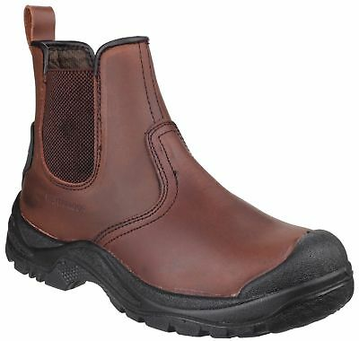 Amblers AS200 SKIDDAW S3 SRC brown scuff-cap safety dealer boot & midsole  6-12