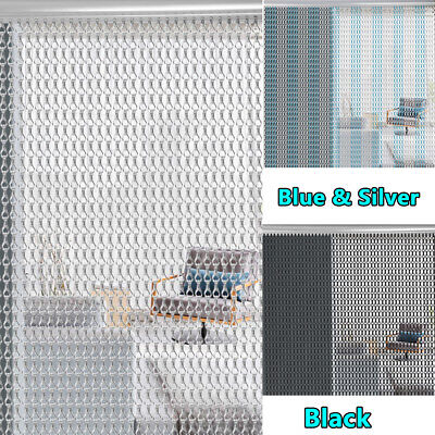 Aluminium Door Fly Curtain Chain Screen Pest Control Insect Screen Blind Black