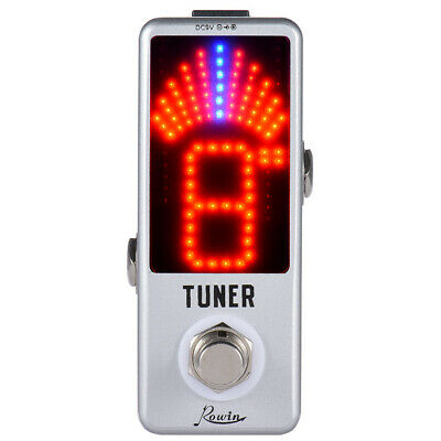 Mini Chromatic Tuner Pedal Effect LED Display True Bypass for Guitar Bass P6V7