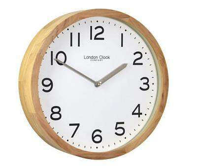 London Clock Company Oak Finish Case Wall Clock 32cm W x 32cm H x 8cm D