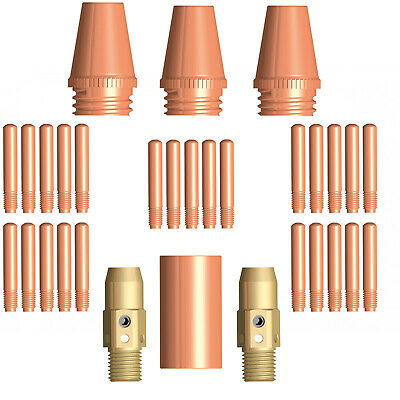 Tweco #3 and #4 Style Fixed Nozzle / Shroud 31 Piece Value Kit / Combo 0.9mm Tip