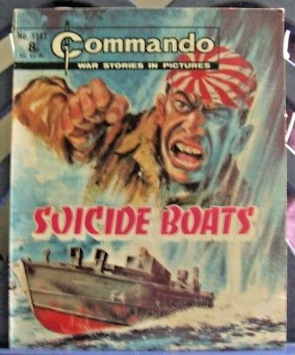 DC Thompson Present Commando War Stories in Pictures #1143 Suicide Boats 1977