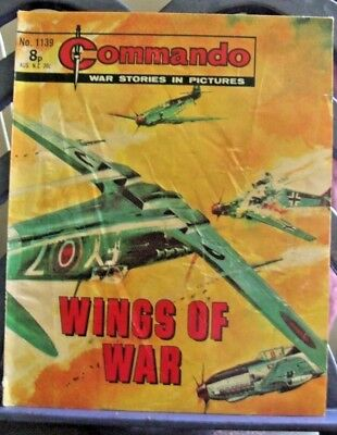 DC Thompson Present Commando War Stories in Pictures #1139 Wings of War 1977
