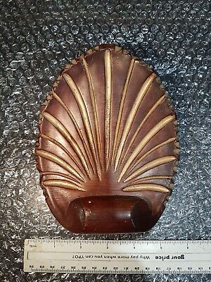 An original solid wood shell for a clock crown. Very well made