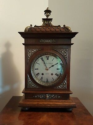 Lenzkirch oak mantle clock - Richard Kaiser, York -Quality - Bronze fittings