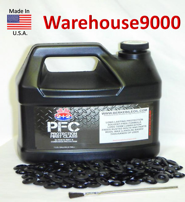 Gallon PFC Rust Proofing Undercoating w/ 100 Rust plugs & Applicator Brush
