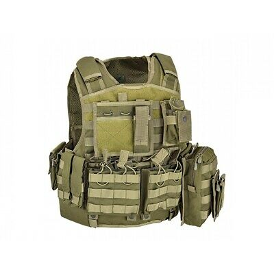 Defcon 5 Body Armor Carrier Set Plattenträger OD Green