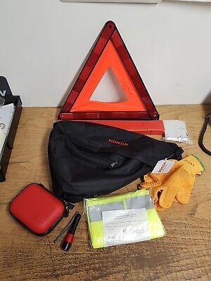 Genuine Honda Safety Pack Includes First Aid Kit, Warning Triange, High Visib