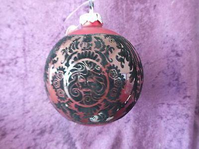 Disney Parks Haunted Mansion Red Christmas Ornament New With Tags