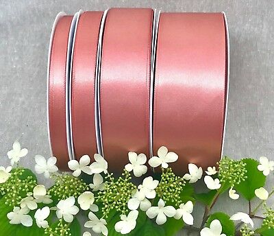 Rose Gold Satin Ribbon Double Sided 3mm to 70mm Wedding Christmas Cake Sash Bow