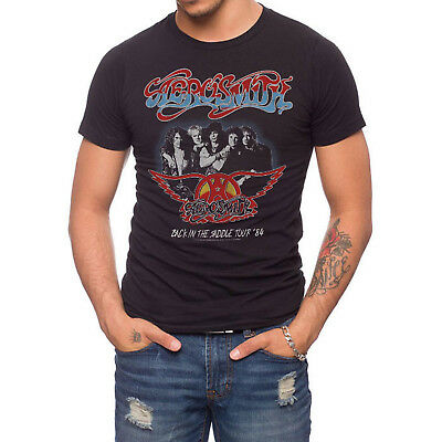 JACK OF ALL TRADES Aerosmith Back In The Saddle Tour T-Shirt Men  Onyx