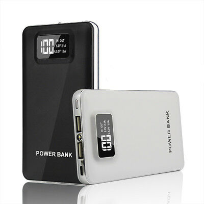 Portable 50000mAh 2USB Power Bank LCD LED Battery Charger Backup For Cell Phones