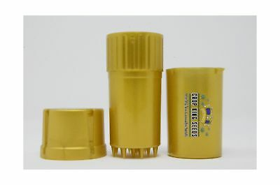 MedTainer Storage Container w/ Built-In Grinder - Gold