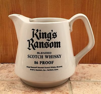 King's Ransom House of Lords Scotch Whisky Ireland Barware Advertising Pitcher