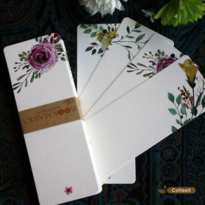 40 PCs/lot Message Card Gift Tag Flower Pattern Vintage Word Card Bookmark