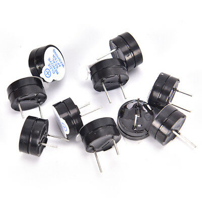 10X 5V Active Buzzer Magnetic Long Continous Beep Tone Alarm Ringer 12mm Hot UK