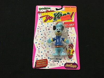 Huckleberry Hound Hanna Barbera Bendable Figure by JusToys Brand New Box