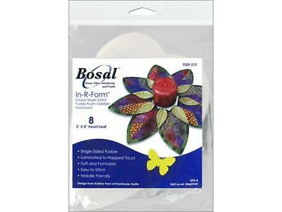 Bosal In R Form Fold N Stitch Wreath Heart/Leaf8pc