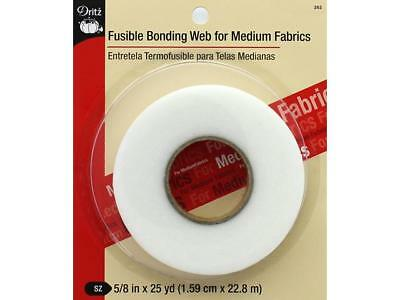 "Dritz Fusible Bonding Web Med 5/8""x 25yd White"
