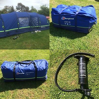 REDUCED Berghaus Air 8 Tent With Air Porch u0026 2 Pumps C&ing : berghaus tent pump - memphite.com