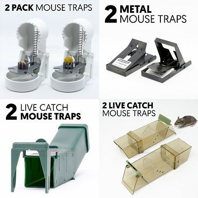 Mouse Trap for Mice Reusable Wooden and Metal Humane Traps and Poison Bait Trays