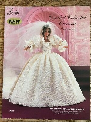 49ba026ef44 20th Century Royal Wedding Gown Princess Diana Crochet Collector Costume  Pattern