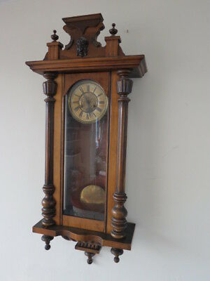 Very Large Antique German Striking Vienna Regulator Wall Clock