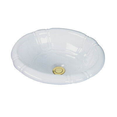 Barclay Sienna White Drop In Oval Bathroom Sink With Overflow 4