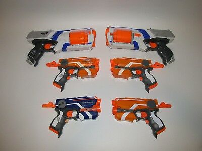 NERF N-Strike dart gun Lot of 6: STRONGARM & FIRESTRIKE + New DARTS