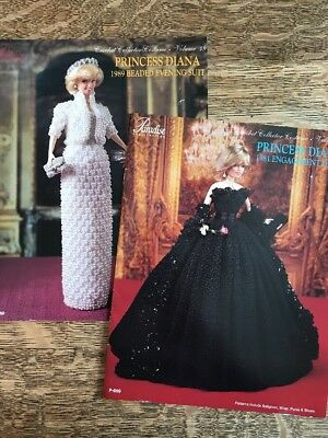 aa155d6c7ad 2 Princess Diana Crochet Pattern Books Engagement Dress Beaded Evening Suit