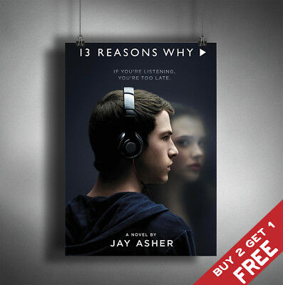 13 REASONS WHY TV Series Poster A3 A4 Size Glossy Photo Print Wall Art Fan Decor