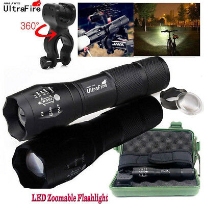 Ultrafire 50000Lumens T6 Zoomable Tactical LED 18650 Flashlight Torch Lamp UK