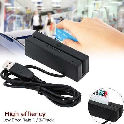 1x PVC Magnetic Stripe Swiper 3 Tracks Mag MSR USB Credit Card Reader Encoder BG