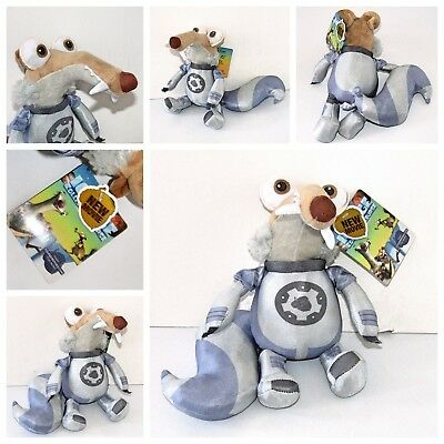 "Ice Age Scrat the Sabre-Toothed Squirrel Space Suit 10"" Plush Soft Toy (New Tag)"