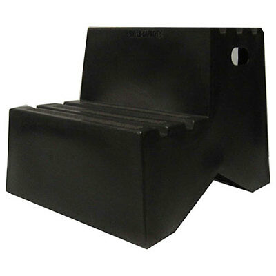 "2 Step Plastic Step Stand, 18-1/4""W x 24-1/2""D x 19-1/2""H, Black, Lot of 1"