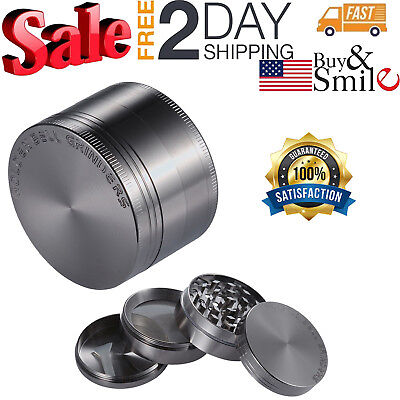 Tobacco Herb Grinder Crusher Herbal Spice Alloy Smoke 4 Piece Metal Chromium