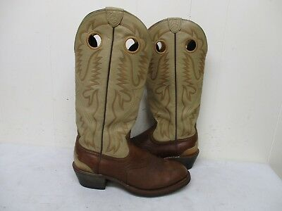 acee307c715 ARIAT BROWN LEATHER Tall Buckaroo Cowboy Boots Mens Size 10 D Style 35227