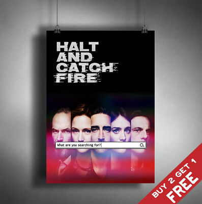 HALT AND CATCH FIRE TV Series Poster Glossy A3 A4 Photo Print Home Wall Art Deco