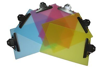 """6 Pack Standard Size Plastic Clipboard 12.5""""x9"""" (2 Pink,2 Yellow,2 Blue)"""