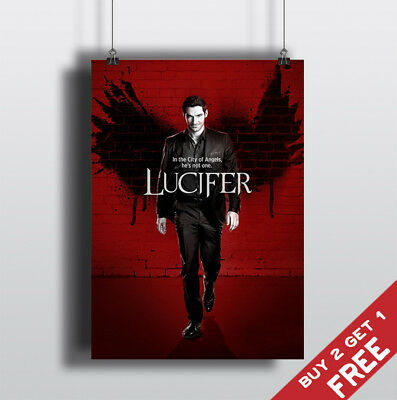 LUCIFER TV Series Poster Glossy A3 A4 Photo Art Print Home Wall Deco Gift 4 Fans
