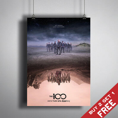 THE 100 TV Series Drama Poster Glossy A3 A4 Photo Art Print Home Wall Decor Fans